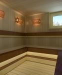 Sauna lamps SAWO LAMP AND LATTICE SET 914-VP, PINE