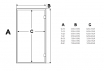 Doors for steam sauna AD STEAM BATH DOORS