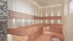 Éléments modulaires pour banc de sauna FINI MODULE, AULNE, 140x600x1600-2400mm