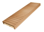 Modulare Elemente für Saunabank FERTIGE MODULE, ERLE, 140x600x1600-2400mm
