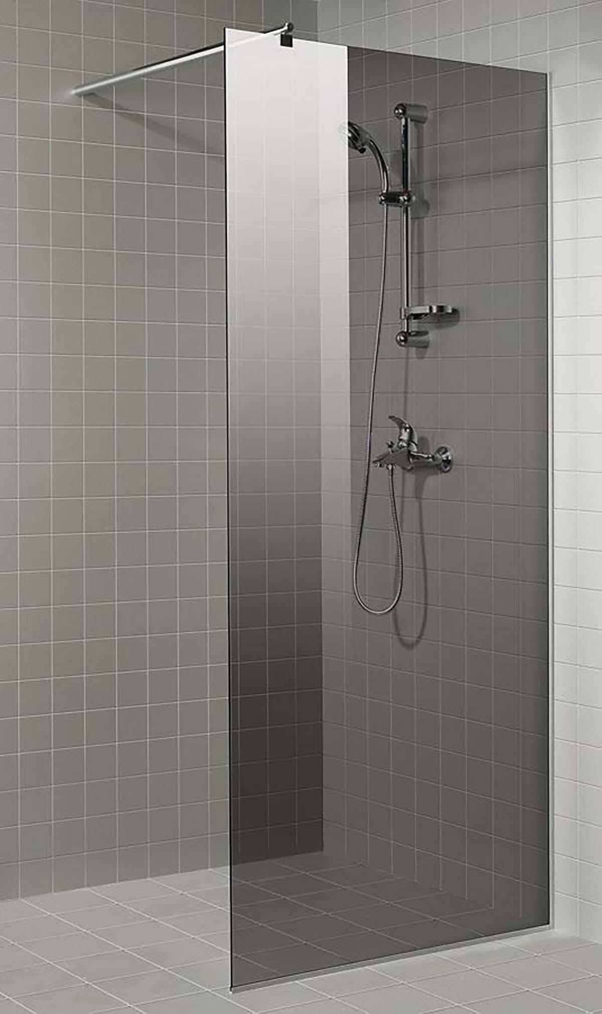 Grå Duschvägg, 80 X 200 Cm, Grå, Shower Wall, Glass Saunainter Com