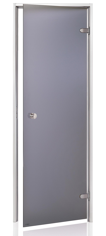 Ad porte de hammam opaque r versible 60 x 190 gris mat for Porte de hammam