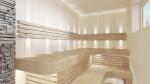 Éléments modulaires pour banc de sauna MODULE D'ANGLE, TREMBLE, 400x400mm