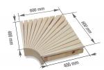Modulare Elemente für Saunabank ECKMODUL, ESPE, 400x400mm