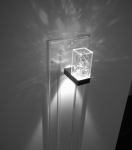 Kristallleuchte CARIITTI TOIVE LED TRANSPARENT, MIT ACRYLPLATTE 1650