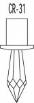 Kristallleuchte KRISTALL DIODEN CARIITTI M8