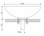 Sonstiges CARIITTI GLASWASCHBECKEN, LED Ø 380 mm