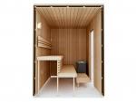 Build by yourself Sauna Cabin moduls DIY Sauna Kits COMPLETE BUILDING KIT - SAUNA STANDARD, THERMO-ASPEN