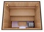 Valmiit koottavat saunat Erilaiset sarjat Käsin kokoonpantavat saunat TÄYDELLINEN RAKENNUSSARJA - SAUNA STANDARD, LÄMPOKÄSITELTY HAAPA
