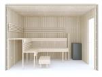 Valmiit koottavat saunat Käsin kokoonpantavat saunat Erilaiset sarjat TÄYDELLINEN RAKENNUSSARJA - SAUNA PREMIUM, HAAPA