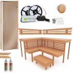 Build by yourself Sauna Cabin moduls DIY Sauna Kits COMPLETE BUILDING KIT - SAUNA OPTIMAL, ALDER