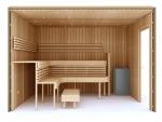 Valmiit koottavat saunat Erilaiset sarjat Käsin kokoonpantavat saunat TÄYDELLINEN RAKENNUSSARJA - SAUNA PREMIUM, LÄMPOKÄSITELTY HAAPA