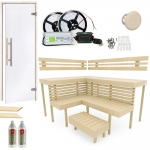 Build by yourself DIY Sauna Kits Sauna Cabin moduls COMPLETE BUILDING KIT - SAUNA OPTIMAL, ASPEN