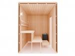 Build by yourself Sauna Cabin moduls DIY Sauna Kits COMPLETE BUILDING KIT - SAUNA STANDARD, ALDER