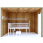Kits de construction de sauna 2 KIT DE CONSTRUCTION 2 - SAUNA PREMIUM, THERMO TREMBLE