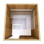 Kits de construction de sauna 2 KIT DE CONSTRUCTION 2 - SAUNA OPTIMAL, THERMO TREMBLE