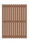 Пол сауны Пол сауны НАПОЛЬНАЯ РЕШЕТКА, ТЕРМООСИНА 600 x 800 мм