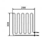 Harvia el. sauna heater spare parts Spare parts for el. heaters Harvia Sauna spare parts Heating elements for sauna heaters HARVIA HEATING ELEMENTS ZSB-228 2670W/230V HARVIA HEATING ELEMENTS