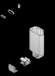 Harvia el. sauna heater spare parts Spare parts for el. heaters Harvia THERMOSTAT FOR HARVIA DELTA EE, WX-232 HARVIA DELTA EE SPARE PARTS