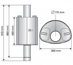 Sauna Warmwasserbehälter WARMWASSERBEHÄLTER FÜR HOLZBEHEIZTE SAUNAÖFEN, 25L, HARVIA
