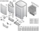 Harvia el. Saunaofen-Ersatzteile Ersatzteile für elektrische Heizungen Harvia HARVIA CLUB COMBI ERSATZTEILE
