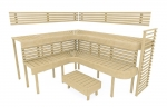 Sauna Hocker Modulare Elemente für Saunabank HOCKER HS 1, ESPE, ERLE, THERMO ESPE