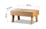 Sauna stool Modular elements for sauna bench STOOL HS 1, ASPEN, ALDER, THERMO ASPEN