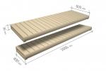 Éléments modulaires pour banc de sauna FINI MODULE KIT, TREMBLE, 600/400x2000mm