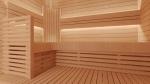 Modulare Elemente für Saunabank RÜCKENLEHNE ECKE, ERLE, 28x400x850mm