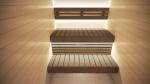 Modulare Elemente für Saunabank RÜCKENLEHNE KIT MIT LED BELEICHTUNG, 270x2050-2350mm