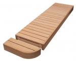 Modulare Elemente für Saunabank MODUL ENDE, ERLE, 400mm