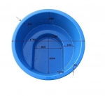 Outdoor bathtubs EMBEDDABLE BATH-TUB WITH INTEGRATED STOVE, 1100L
