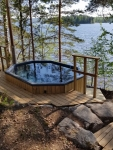 Outdoor bathtubs EMBEDDABLE BATH-TUB WITH EXTERNAL STOVE, 1000-2300L