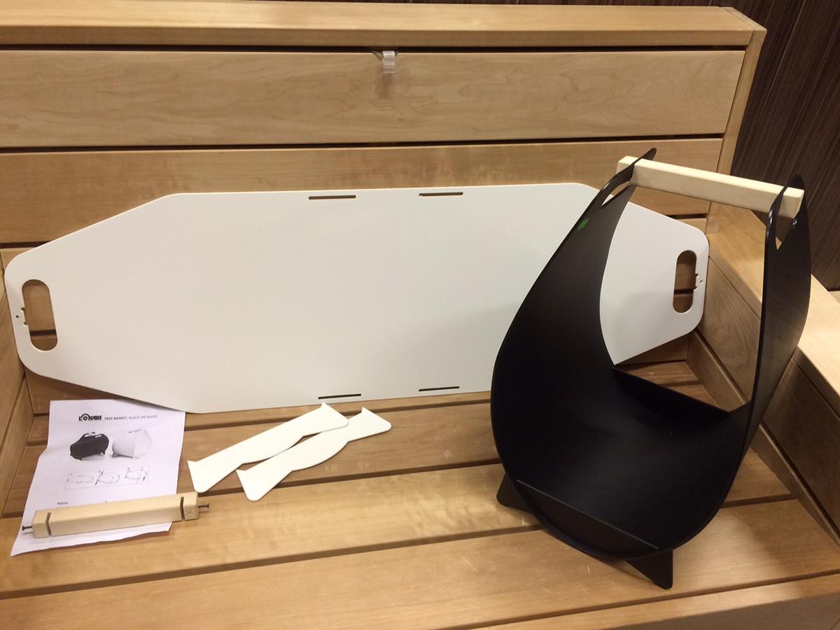korb f r brennholz schwarz. Black Bedroom Furniture Sets. Home Design Ideas