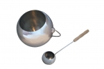 Sauna bucket and ladle sets CHRISTMAS OFFERS BLACK FRIDAY SAUNIA STAINLESS STEEL GLOBE SET 4,0 L