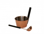 Sauna bucket and ladle sets CHRISTMAS OFFERS BLACK FRIDAY SAUNIA STAINLESS STEEL CU-ST SET 4,0 L