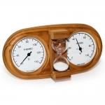 Sauna sand timers Sauna thermo and hygrometers DUO SAUNIA 3-IN-1 THERMO-HYGROMETER WITH SAND TIMER 591L