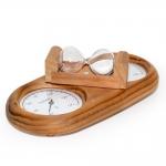 Sauna Uhr Sauna Thermo- und Hygrometer DUO SAUNIA 3-IN-1 THERMO-HYGROMETER MIT SANDUHR 591L