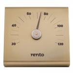 Sauna Thermo- und Hygrometer SOLO RENTO ALUMINIUM THERMOMETER