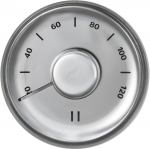 Sauna thermo and hygrometers SOLO RENTO THEMOMETER, STAINLESS STEEL