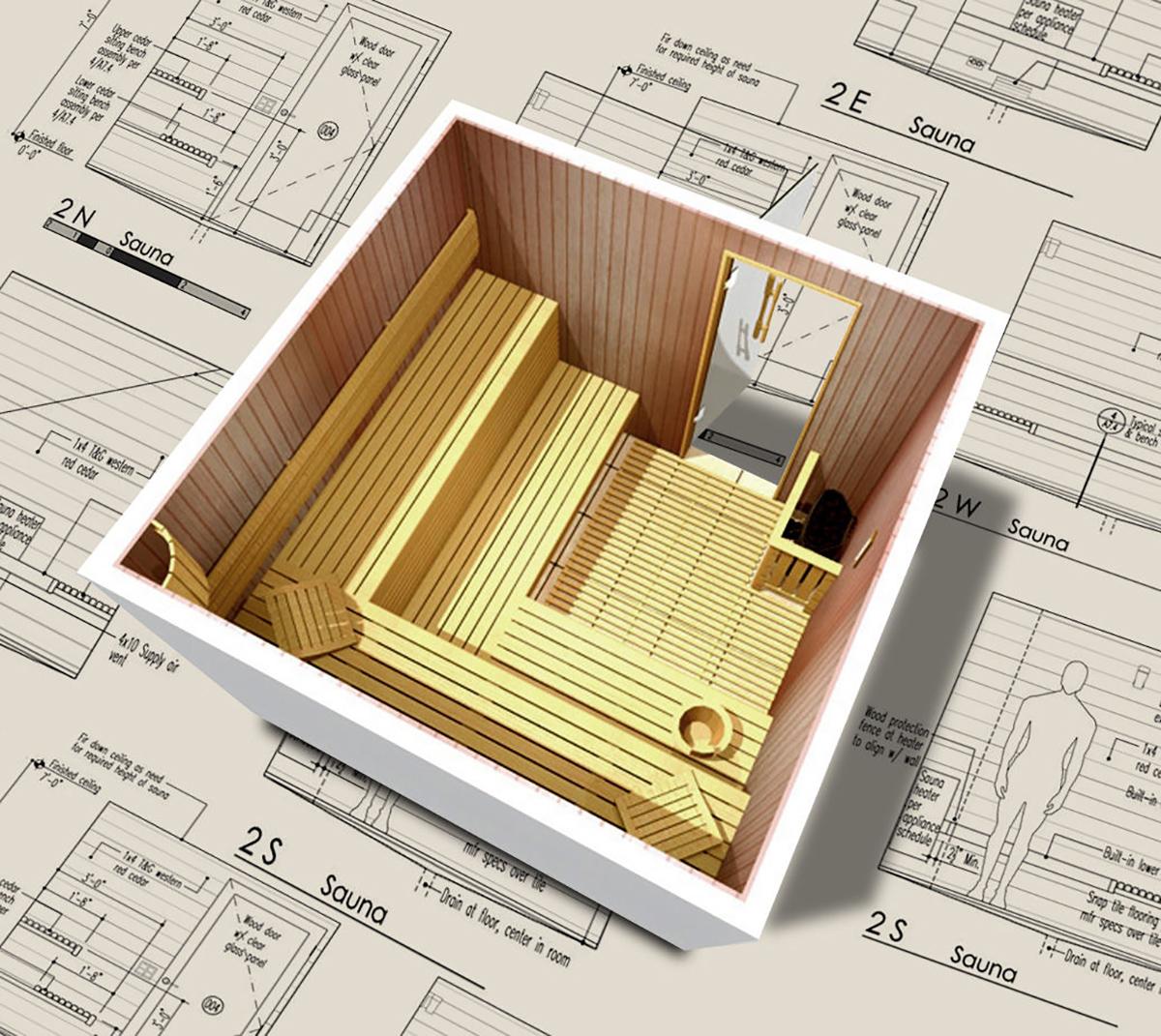 sauna projet. Black Bedroom Furniture Sets. Home Design Ideas