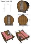 SAUNAINTER Sauna d'exterieur SAUNA MAISON AVEC POOL SAUNA