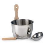 Sauna bucket and ladle sets Sets more steam SAUNA SET «MORE STEAM» OPTIMAL 4,0 L
