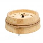 Sauna Uhr OUTLET SCHWARZER FREITAG SAWO WANDUHR IN FASS-LOOK 530