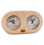 Sauna thermo and hygrometers DUO SAWO BOX TYPE ROUNDED THERMO - HYGROMETER