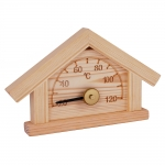 Sauna thermo and hygrometers SOLO SAWO PANEL HOUSE THERMOMETER 125-TP, PINE