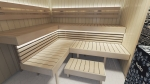Sauna bench materials ASPEN BENCH WOOD SHP 28x90x1200-2400mm