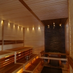 Sauna bench materials OUTLET THERMO ASPEN BENCH WOOD SHP 28x90x1200-2400mm