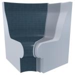 For steam sauna For steam sauna Steam sauna seats STEAM SAUNA SEATS V-2