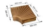 Modulare Elemente für Saunabank ECKMODUL, THERMO ESPE, 600x600mm